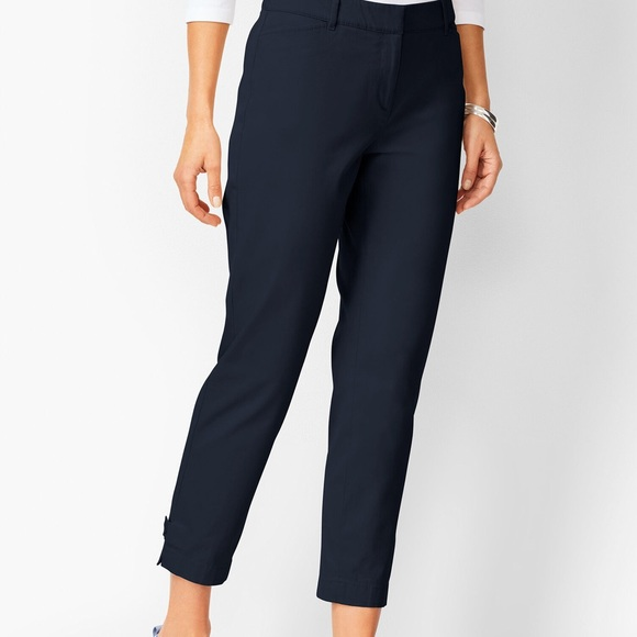 Talbots Perfect Crop Pants Curvy Fit Navy SALE
